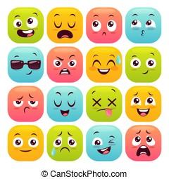 színes, emojis, állhatatos