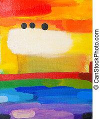 színes, festmény