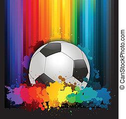 színes, futball, háttér