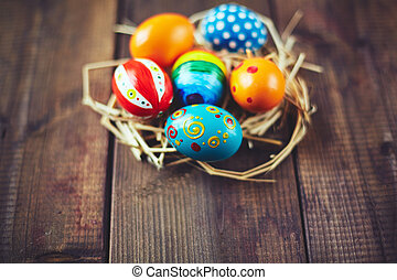 színes, húsvét