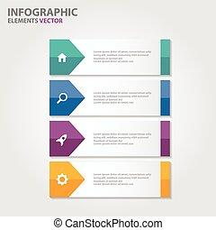 színes, infographic, alapismeretek, állhatatos
