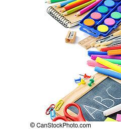 színes, iskola ellátmány