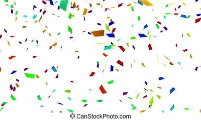 színes, konfetti, noha, luma, matt, loopable, háttér