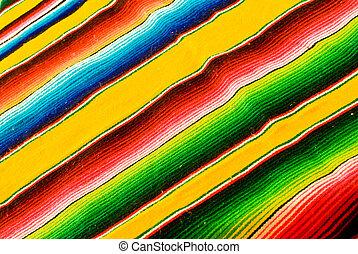 színes, mexikói, betakar