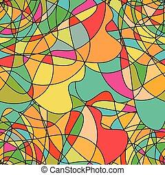színes, motívum, elvont, seamless, alakzat, örvénylik