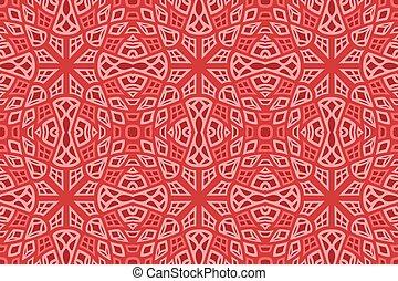 színes, motívum, piros, művészet, elvont, seamless
