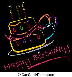 színes, születésnap