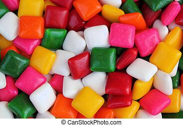 színes, telt, gumi