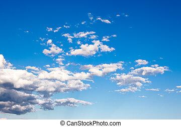színes, világos blue, ég, háttér.