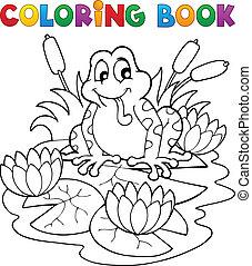 színezés, kép, 2, fauna, folyó, könyv