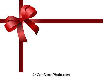 színezett, bow., vektor, ábra, rajzoló, karácsony