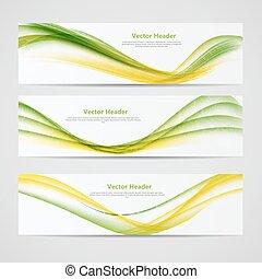 színezett, fejes, elvont, ábra, lenget, háttér., vektor