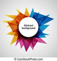 színezett, kivonat tervezés, háttér, háromszögek, sablon