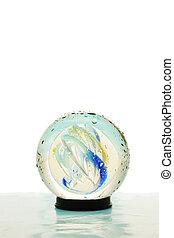 színezett, kristály labda