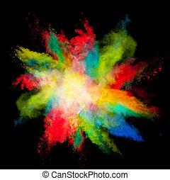 színezett, por