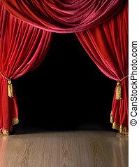 színház, courtains