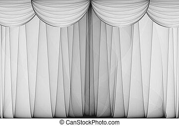 színház, függöny