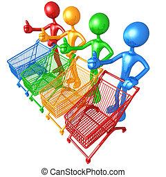 színkép, bevásárlás