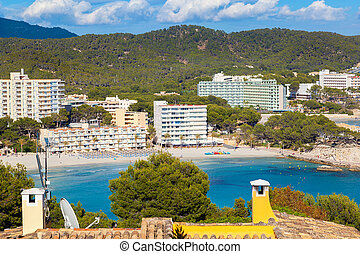színpadi, tengerpart, majorca, paguera, kilátás