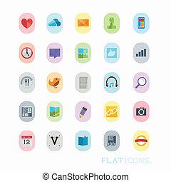 színpompás, ikon, tervezés