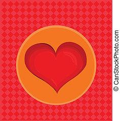 szív, Ábra, kedves, háttér, vektor, Nap, piros