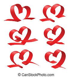 szív, állhatatos, piros szalag