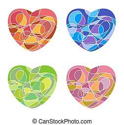 szív, állhatatos, szeret, elszigetelt, kedves, alakít, háttér, jel, fehér, vagy, mózesi, ikon