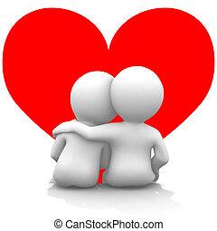 szív, ön, az enyém, konzerv, elkísér