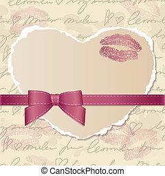 szív, újság kártya