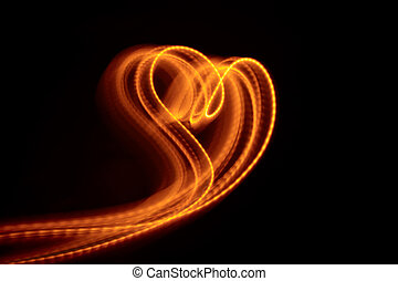 szív alakzat, fény