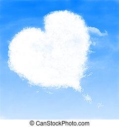 szív alakzat, felhő