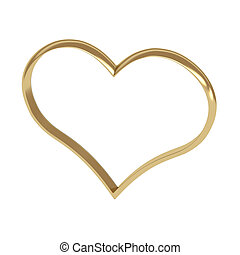 szív alakzat, gyűrű, arany-