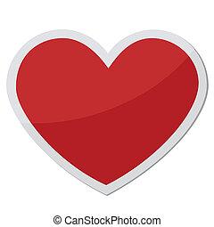 szív alakzat, helyett, szeret, jelkép