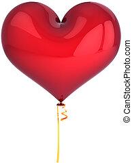 szív, balloon., szeretlek, fogalom