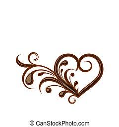 szív, csokoládé