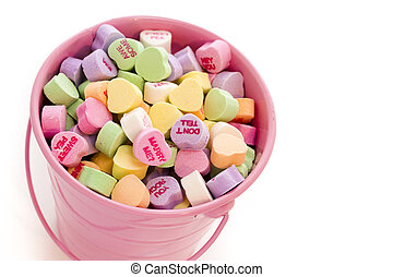 szív, cukorkák