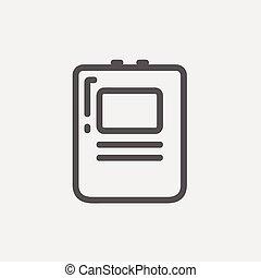 szív,  defibrillator, ikon, egyenes, híg