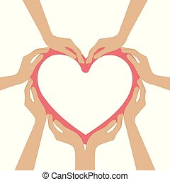 szív, emberi forma, kézbesít