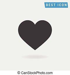 szív, eps10., vector., ikon