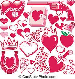 szív, gyűjtés