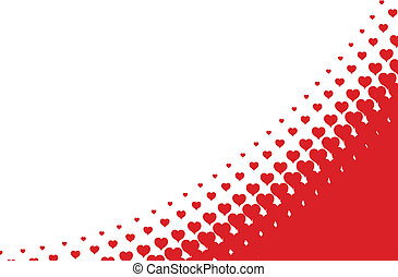 szív, háttér, halftone, vektor, valentines