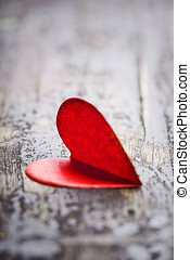szív, helyett, valentines nap