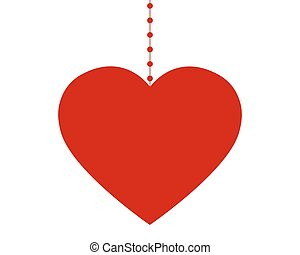 szív, képben látható, kedves, dél, nap, white, háttér