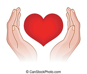 szív, kézbesít
