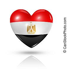 szív, lobogó, szeret, egyiptom, ikon