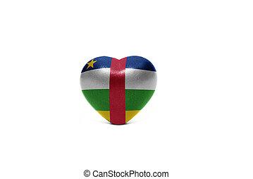 szív, noha, nemzeti lobogó, közül, közép-afrikai köztársaság