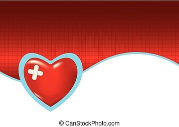 szív, orvosi, háttér