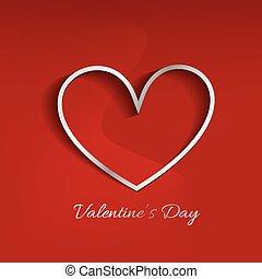 szív, piros, Nap, háttér, kedves