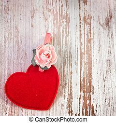 szív, rózsa