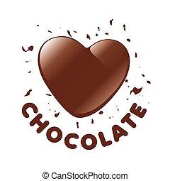 szív, sétabot, cukorka, alakít, vektor, jel